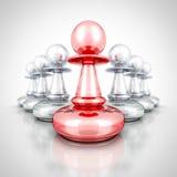 Röd ledare Winner Pawn Forward annat grupplag Royaltyfria Foton