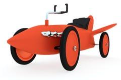 Röd leksakraket-bil Royaltyfri Fotografi