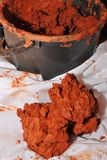 Röd lera Royaltyfri Bild