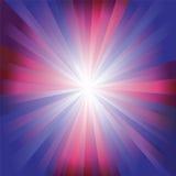Röd, lila- och blåttfärgbristning Arkivfoto