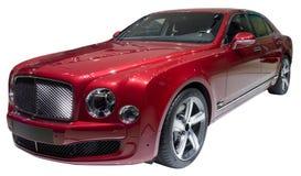 Röd limousine Arkivbild