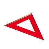 Röd linjal i form av en triangel. Vektorillustration Royaltyfri Illustrationer
