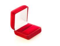 Röd liten ask för dyra gåvor och garneringar Royaltyfria Bilder