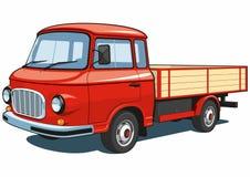 Röd liten lastbil Royaltyfria Bilder