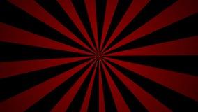 Röd liten sol som roterar den sömlösa öglan för abstrakt bakgrundstappningstil stock video