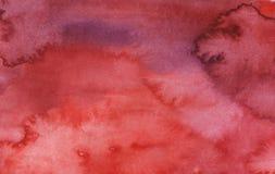 Röd ljus abstrakt bakgrund för vattenfärg royaltyfri illustrationer