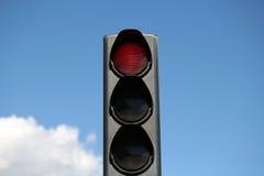 Röd ljus-signal av trafikljus Royaltyfria Bilder