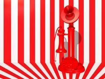 Röd ljusstaketelefon Arkivbild