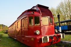 Röd lokomotiv Arkivbild