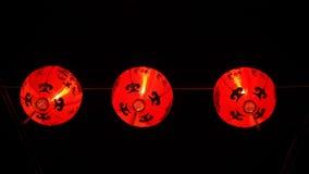 Röd lykta i nytt år för traditionell kines Arkivbilder