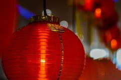 Röd lykta på tillfället av det kinesiska nya året 2017 Royaltyfria Foton
