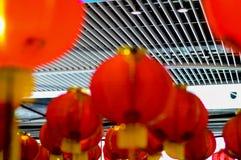 Röd lykta på tillfället av det kinesiska nya året 2017 Arkivbild