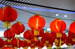 Röd lykta på tillfället av det kinesiska nya året 2017 Royaltyfri Foto