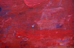 Röd målad bakgrund för konst för linnekanfas Fotografering för Bildbyråer