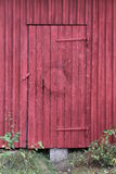 Röd målad dörr Royaltyfri Foto