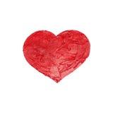 Röd målad hjärta Arkivfoto