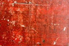 Röd målad trätexturerad bakgrund för Grunge Royaltyfria Bilder