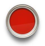 Röd målarfärg fotografering för bildbyråer