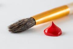 Röd målarfärg Royaltyfria Bilder