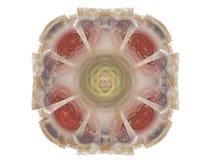 Röd mångfärgad abstrakt fractal i form av blom- modell Royaltyfri Foto