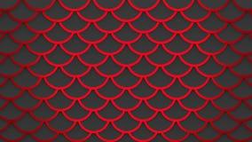 Röd mörk fiskvåg - illustration för bakgrund 3D för grå modell marin- arkivbild