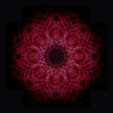 Röd mandala Arkivfoton