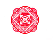 Röd mandala Royaltyfri Foto