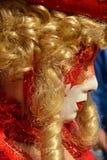 Röd maskering Venedig, Italien, Europa, slut upp Royaltyfri Bild