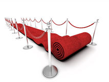 Röd matta Royaltyfria Foton