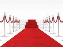 Röd matta Arkivfoto