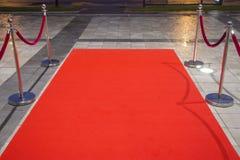 Röd matta Arkivfoton