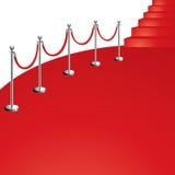 Röd matta vektor illustrationer