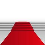 Röd matta på trappa, vektorillustration vektor illustrationer