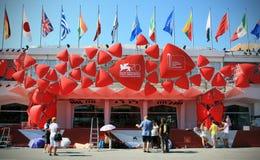 Röd matta, 70th Venedig filmfestival Arkivbilder