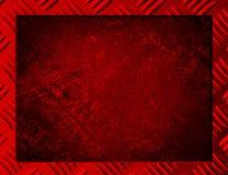Röd metallbakgrund eller ram Royaltyfri Fotografi