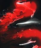 Röd mist för abstrakt målning Royaltyfri Bild