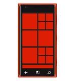 Röd Mobilephonetyp Elagance Royaltyfri Foto