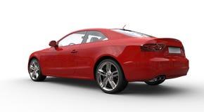 Röd modell Car 2 Fotografering för Bildbyråer
