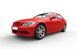 Röd modern bil Royaltyfri Fotografi