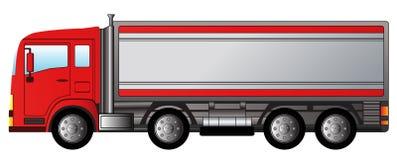Röd modern lastbil Arkivbilder