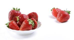 röd mogen jordgubbe Arkivfoto