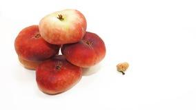Röd mogen persika Arkivbild