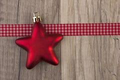Röd Moravian stjärna Arkivfoton