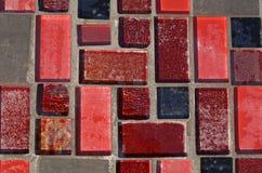 Röd mosaik Arkivfoton