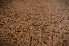 Röd mosaisk textur för tegelsten Arkivbild