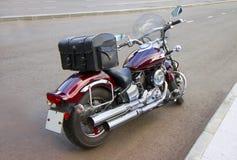 Röd motorcykel Royaltyfri Foto