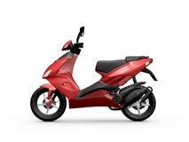 Röd motorcykel Fotografering för Bildbyråer
