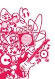 Röd musik stock illustrationer
