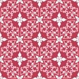 Röd och beige blom- sömlös modell Blek röd kulör bakgrund