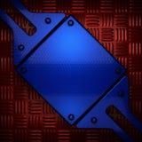 Röd och blå metallbakgrund Arkivbilder
